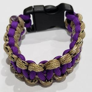 New Purple & Tan Paracord Survival Bracelet!